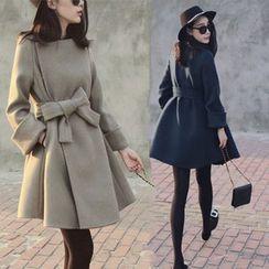 Sienne - Tie Waist Long Coat