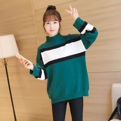 Colorful Shop - Color-Block Sweater