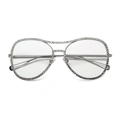 MOL Girl - Rhinestone Aviator Glasses Frame