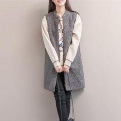Snow Flower - Woolen Long Vest