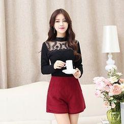 Romantica - Wool Blend Plain Shorts