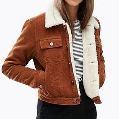Obel - Fleece Lined Cropped Jacket
