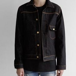 Seoul Homme - Drop-Pocket Denim Jacket