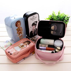 Dolce Vita - Girl Print Cosmetic Bag