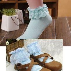 Nikiki - Lace-Trim Socks