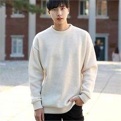 Smallman - Round-Neck Fleece-Lined T-Shirt
