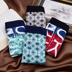 QIANLEE - 4条装印花平角裤