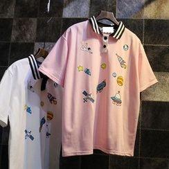 Jade Rabbit - 短袖印花马球衫