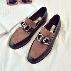 Shoeland - Color Block Loafers