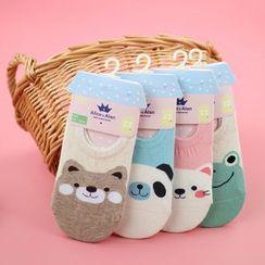 Socka - 卡通动物隐形船袜