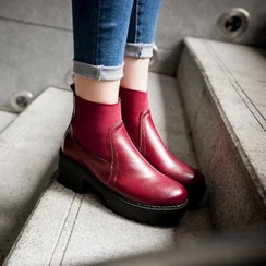Pangmama - Chunky Heel Chelsea Boots