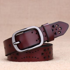 BAIEKU - Perforated Genuine Leather Belt