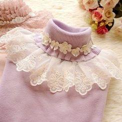 Cobblestone - Lace-Panel Sweater