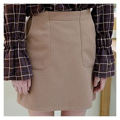 Sechuna - Band-Waist Skirt