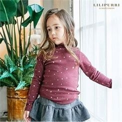 LILIPURRI - Girls Mock-Neck Star Print Top