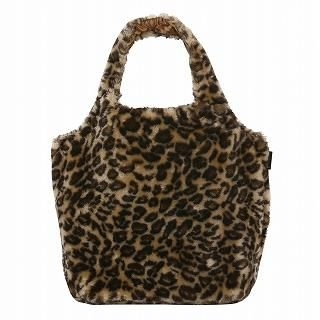 ROOTOTE - Leopard Pattern Tote  [ROOTOTE Round Sexy Fur-D]