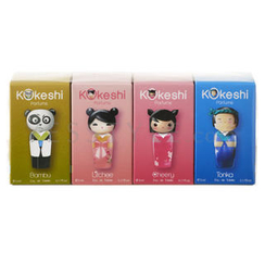 Kokeshi - The Mini Kokeshi Collection Travel Retail Exclusive(4 items): Tonka + Cheery + Litchee + Bambu