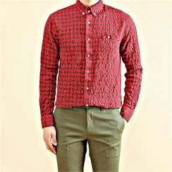 THE COVER - Gingham Check Textured Shirt