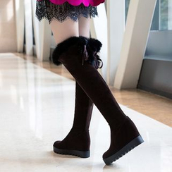 Pretty in Boots - Fleece-Lined Over-The-Knee Boots