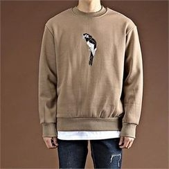 THE COVER - Bird Embroidered Pullover