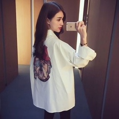 Cocofield - Print Long-Sleeve Blouse