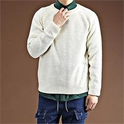THE COVER - Round-Neck Cable-Knit Top
