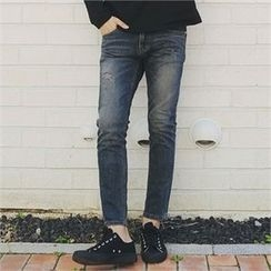 MITOSHOP - Washed Slim-Fit Jeans