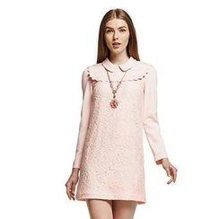 O.SA - Scalloped-Trim Lace Dress