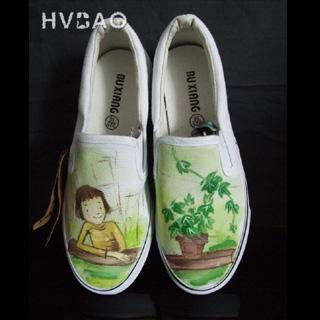 HVBAO - 'Going Green' Canvas Slip-Ons