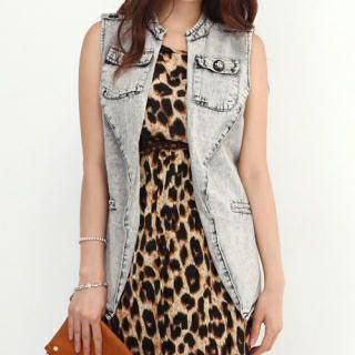 COOLHADA - Flap-Pocket Denim Vest