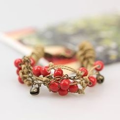 Porcelina - Beaded Layered Bracelet