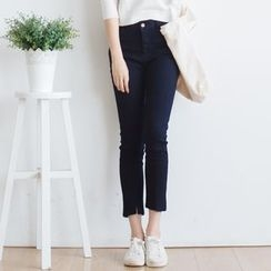 Forest Girl - Elastic Cropped Jeans