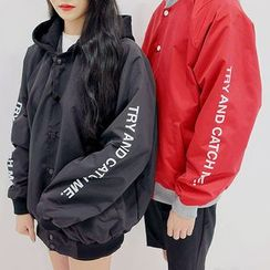 Seoul Homme - Couple Hooded Waterproof Jacket