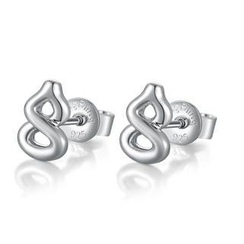 Bling Bling - Bling Bling Platinum Plated 925 Sterling Silver Earrings