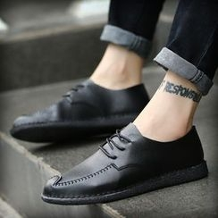 Hipsteria - Faux-Leather Lace-Up Shoes