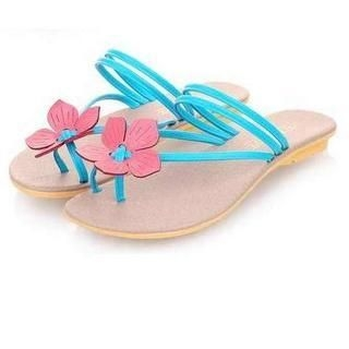Pangmama - Corsage Accent Flip-Flops