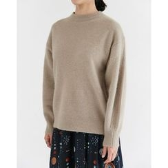 Someday, if - Crew-Neck Angora Wool Blend Knit Top