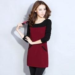 Lovebirds - Long-Sleeve Fleece-Lined Dress