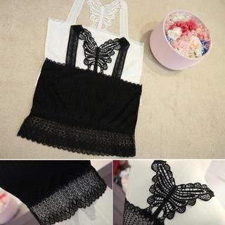 Small Mosquitoes - Bow-Trim Lace Tank Top