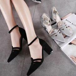 Mancienne - Pointy High Heel Sandals
