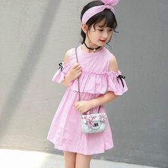 Fiaba - 兒童短袖A字連衣裙