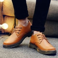 BINSHOU - Faux Leather Oxfords