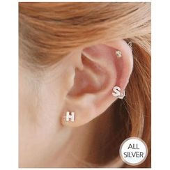 Miss21 Korea - Initial Silver Stud Earring (Single)