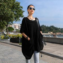 SO Central - Asymmetric Hem Oversized Tunic
