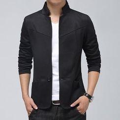 LC Homme - Mandarin-Collar Blazer