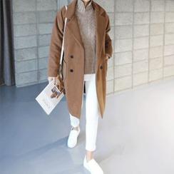 STYLEBYYAM - Wool Blend Double-Breasted Coat