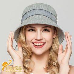 BADA - Organza-Ribbon Knit Sun Hat