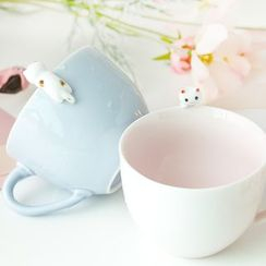It's You! - Cat Ceramic Coffee Cup with Wooden Spoon