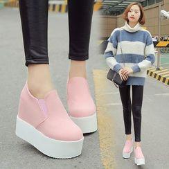 Sleeko - Wedge Slip-On Sneakers