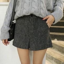 Moon City - Woolen Wide Leg Shorts